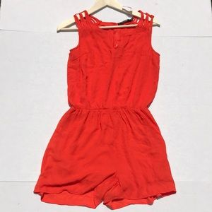 NWT Doe & Rae Orange Shorts Romper